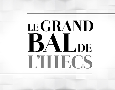Le Grand Bal de l'IHECS 2015