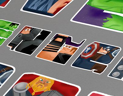 AVENGERS: Superheroes encased