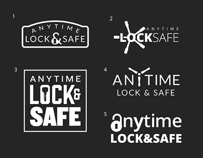Anytime Lock and Safe Logo and Website