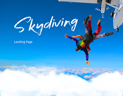 SkyDiving on the airfield Chaika Landing Page