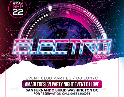 Electro Club Party Flyer/Poster