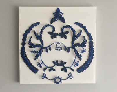 Mural crochet ornaments