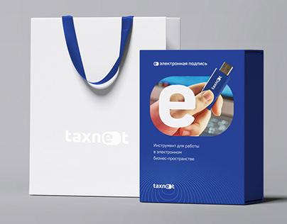 Фирменный стиль и система логотипов для Taxnet
