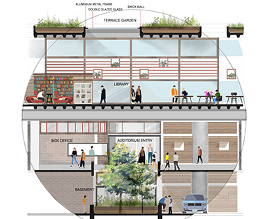 Design renders : Office & Incubation space