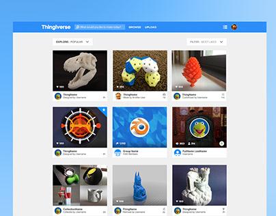 Thingiverse Visual Refresh