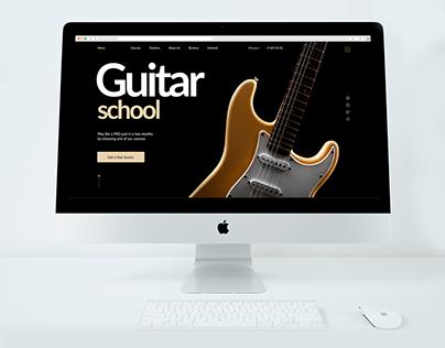 Guitar music school landing page
