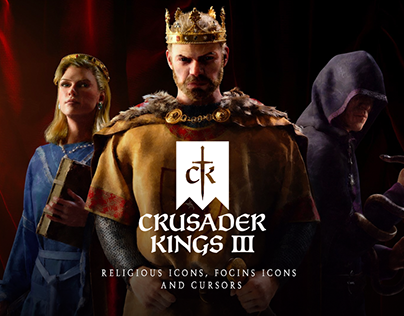 Crusader Kings III: Icons, cursors.