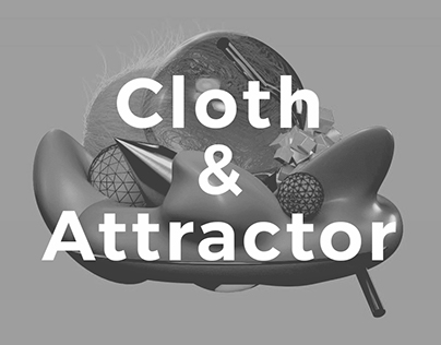 Personal Project. Cloth&Attractor. Forms.