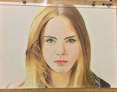 Colored Pencil Illustration - Cara Delevingne