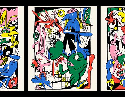 Tomato, Giraffe, Foam (Poster Series)