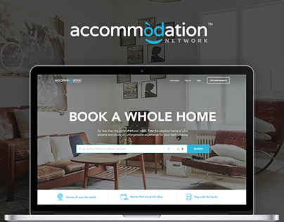 Accommodation.net Travel Booking Redesign