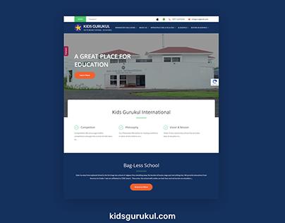 WordPress Website for kids gurukul
