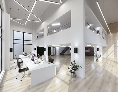 Office space refurbishment - CGI