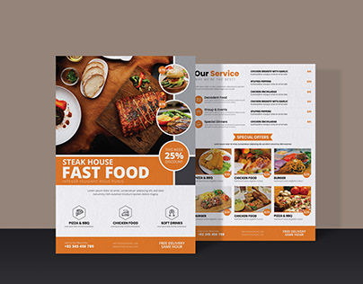 "Fast Food Flyer - "" Steak House Fast Food """