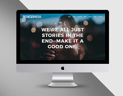 DeCheser Media One-Page Website