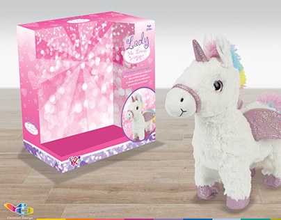 Unicorn and Lama plush packaging design