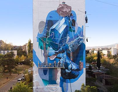 Dilk & Feros. Niko mural festival. Tbilisi 2019