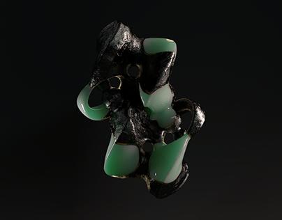 Neorne - Black, Gold and Jade
