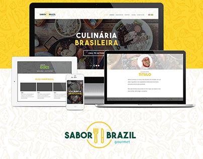 Logo, Site e Materiais Sabor Brazil EUA