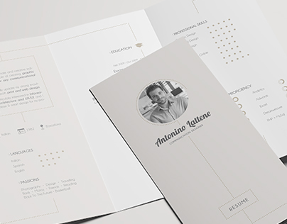 Personal Resume - Trifold Brochure