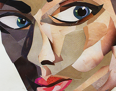 Waste Faces: the collage portrait series