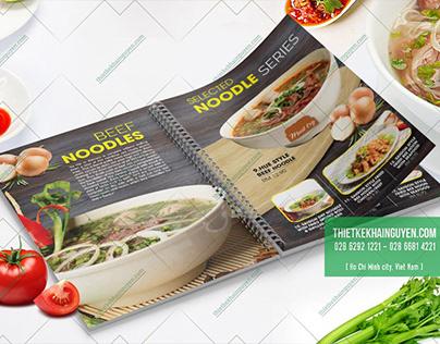 VietNamese Noodles Soup - Menu design