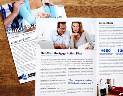 1st Advantage Mortgage Printed Newsletter Redesign