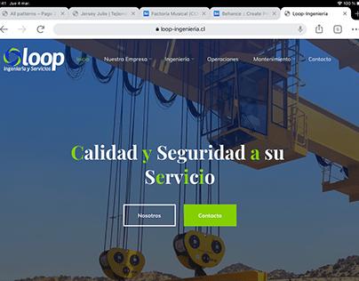 Página web Loop-ingeniería.cl