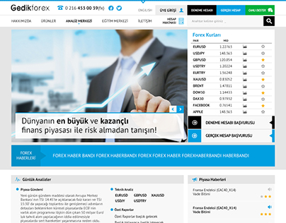 Gedik Forex Website Design