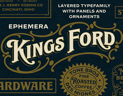 Ephemera Kingsford Fonts & Ornament