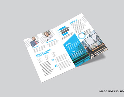 A4 Bifold Brochure Mockup Premium psd