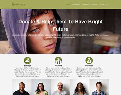 New Hope website redesign