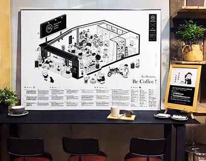 來自波寶島的 - 私釀咖啡工作室|空間插畫