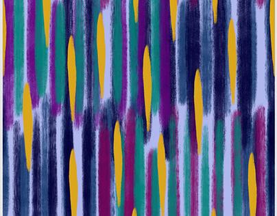 Gouache Colourful Lines