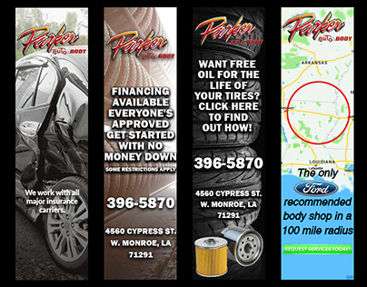 Parker Auto Body banners