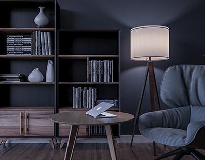 Modern style living room.