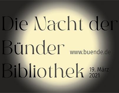 Nacht der Bünder Bibliothek (Digital Poster)