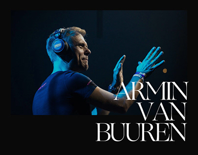 Armin van Buuren — Website Design Concept
