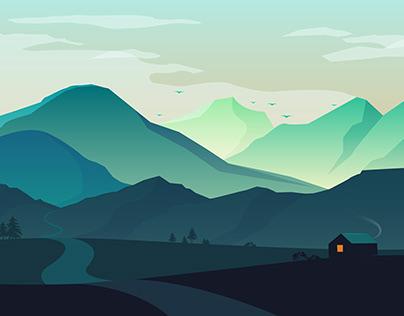 Moutain View Illustration