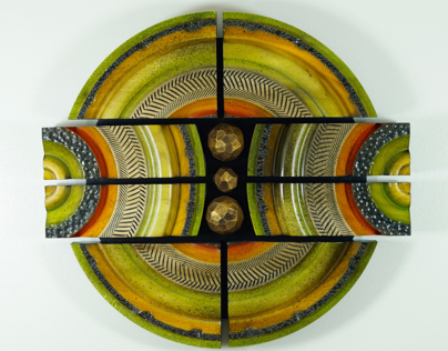 Lathe turned wall sculpture