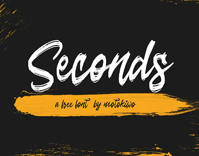 SECONDS - FREE ROUGH BRUSH SCRIPT