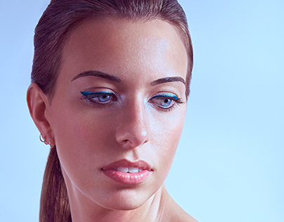 Beauty portrait shooting and retouching