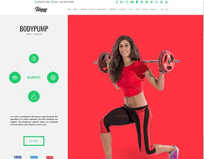 Bodypump Activity Page - Fitness WordPress Theme