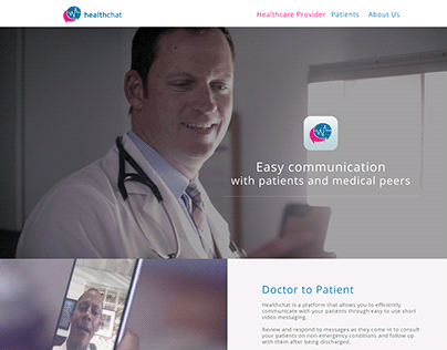 HealthChatPro Website App Mock Ups