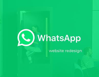 WhatsApp website redesign
