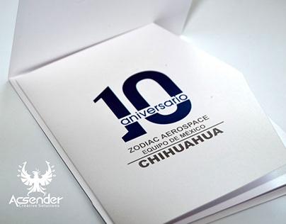 Invitación y Marca 10 Aniversario Zodiac México