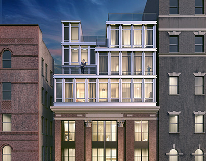 Apartment Building on Manhattan, New York