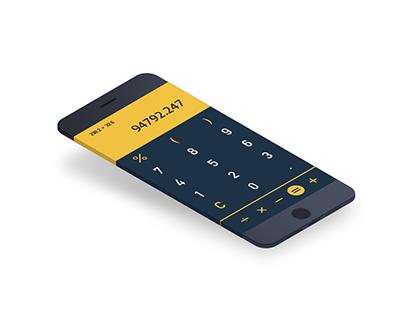 Daily UI challenge #4 Calculator (#dailyui)