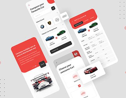 Car Comparison App Design