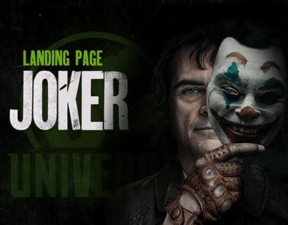 Landing page Joker movie | Лендинг к фильму Джокер